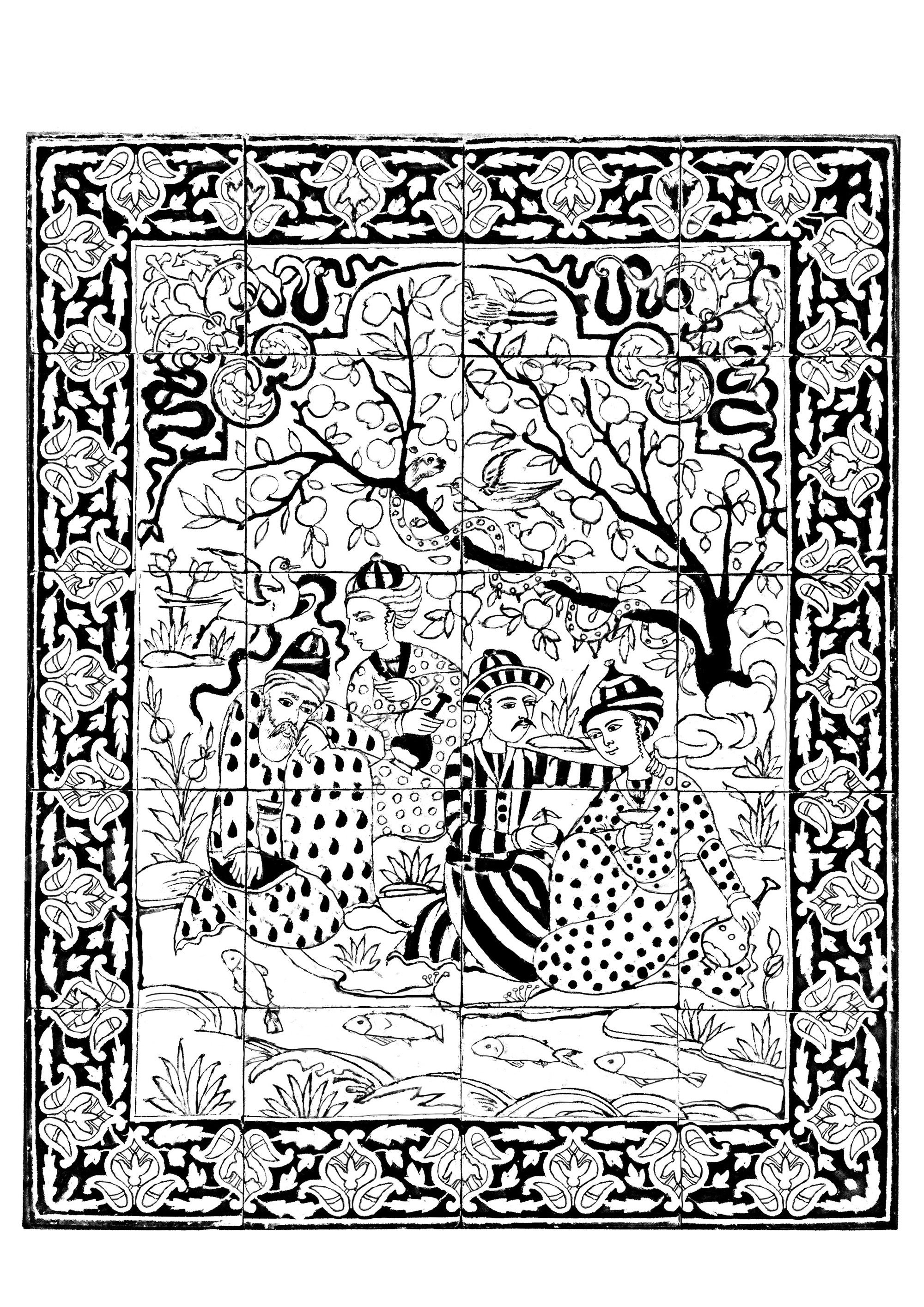 in this gallery you will find coloring pages inspired by oriental art persian arabic