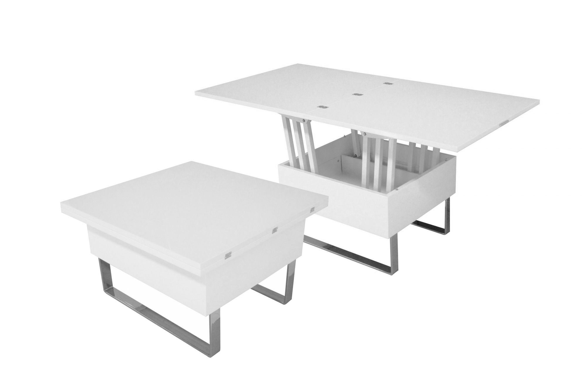 Table Basse Relevable Blanc Laqué Deco In Paris Table Basse Relevable Multifonction Woods Laquee
