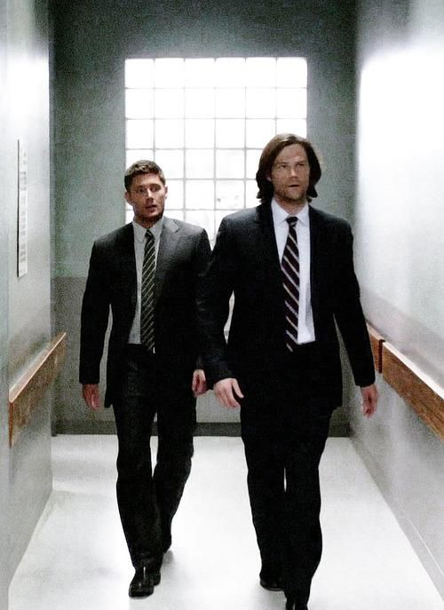 """Men In Suits--Sam And Dean #Supernatural I Wonder If They Ever Think """"Hey, What The Gates Of ..."""