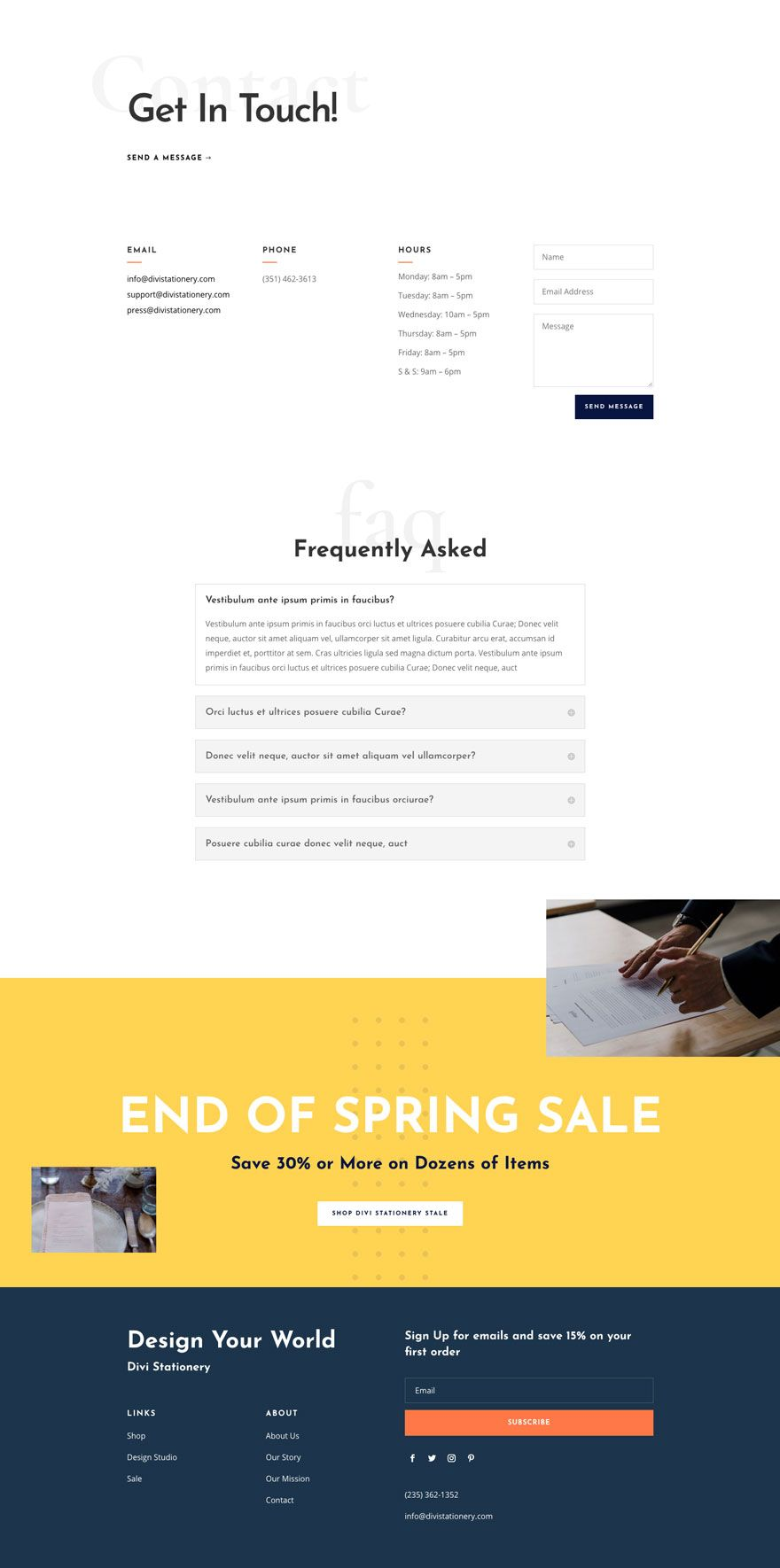 Get A Free Stationery Shop Layout Pack For Divi Free Stationery Stationery Shop Shop Layout