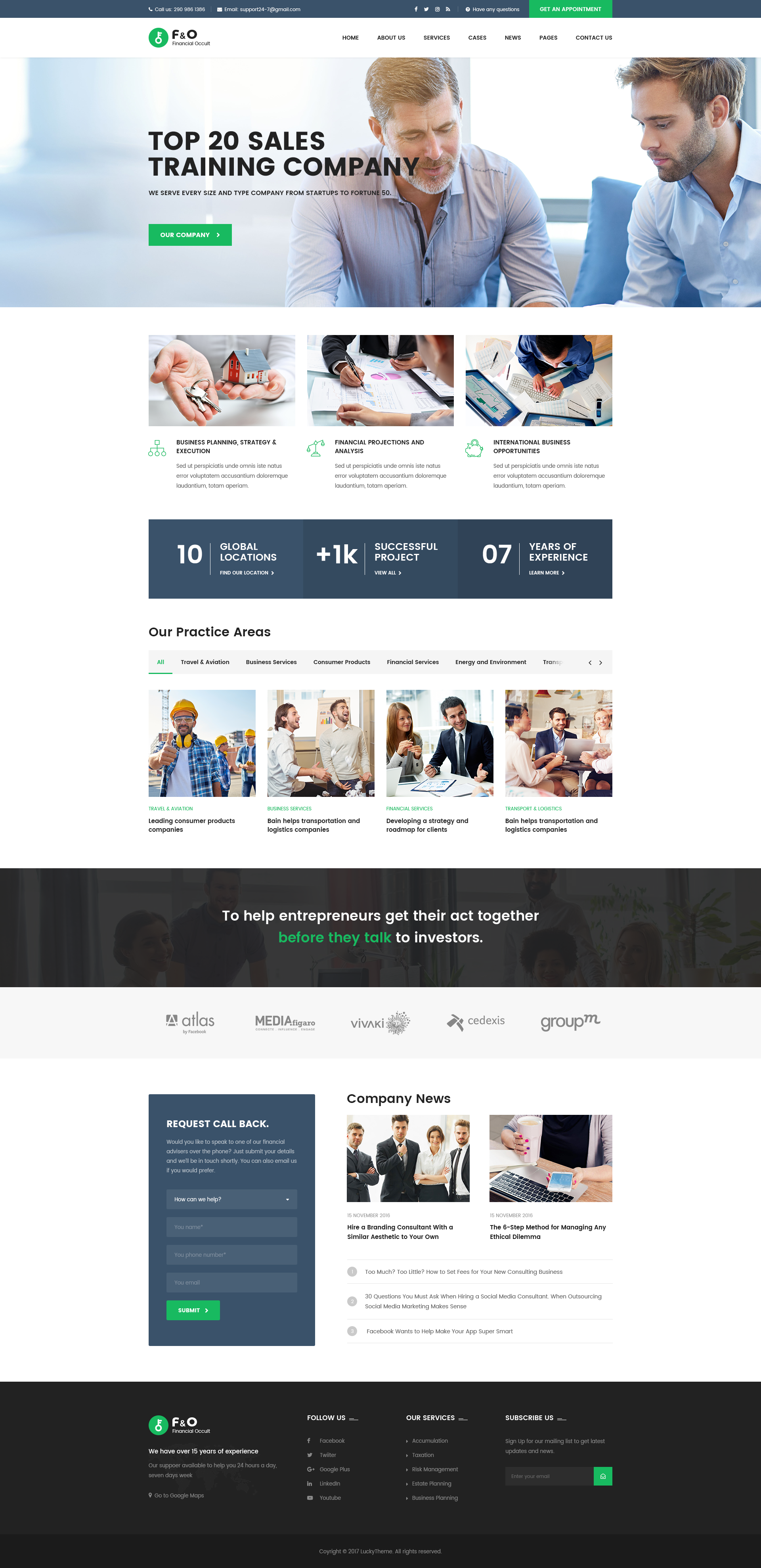 F O Consultant Finance Psd Templates Insurance Download