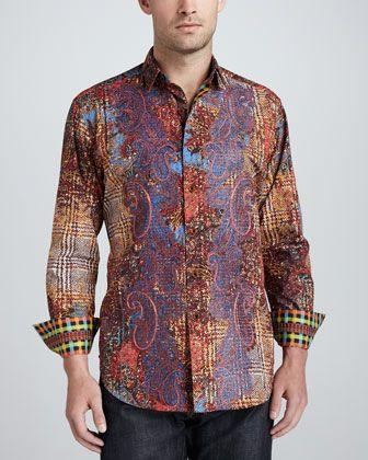 Fensajomon Mens Business Embroidery Button Up Fashion Long Sleeve Dress Shirts