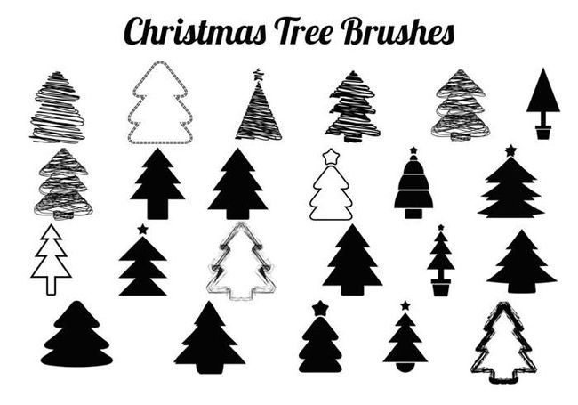 300 Best Free Merry Christmas Photoshop Brushes With Images Christmas Tree Christmas Inspiration