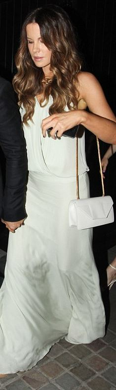 Kate Beckinsale: Purse – Saint Laurent  Dress – Mason by Michelle Mason