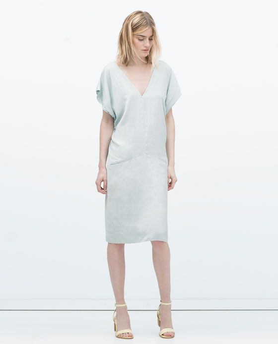 Image 1 of STRAPPY DRESS WITH BACK KNOT from Zara