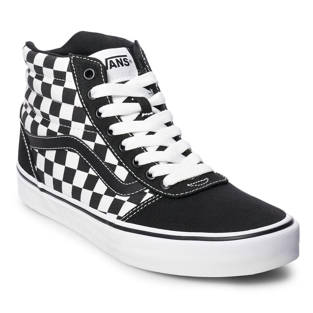 Vans Ward Hi Checkerboard Men's Skate Shoes, Size: Medium