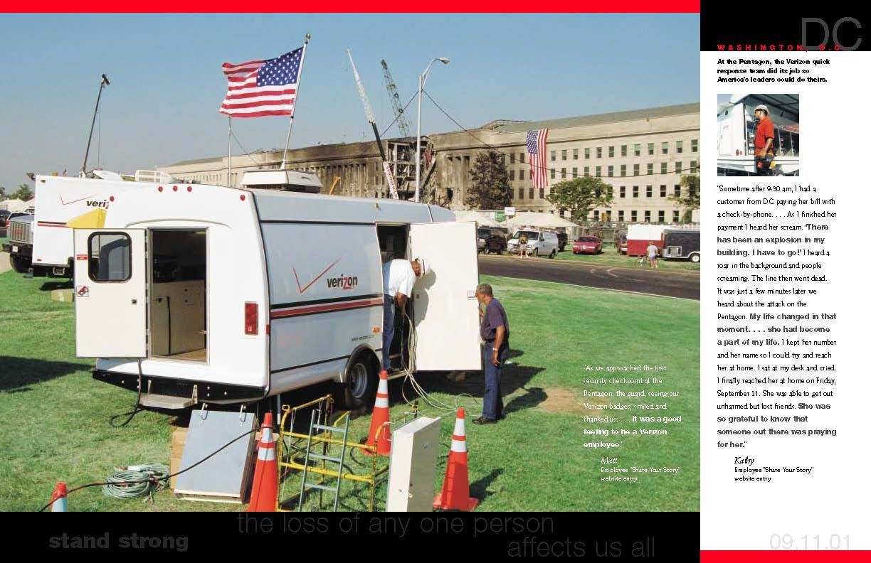 Page 8 Of A 9 11 Tribute Brochure Published By Verizon In 2002 Recreational Vehicles Historical Attack