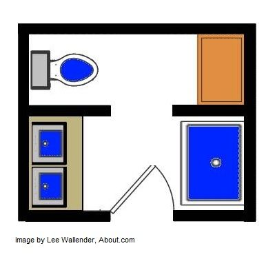 bathroom designs and floor plans with separate toilet- 67 sq ft