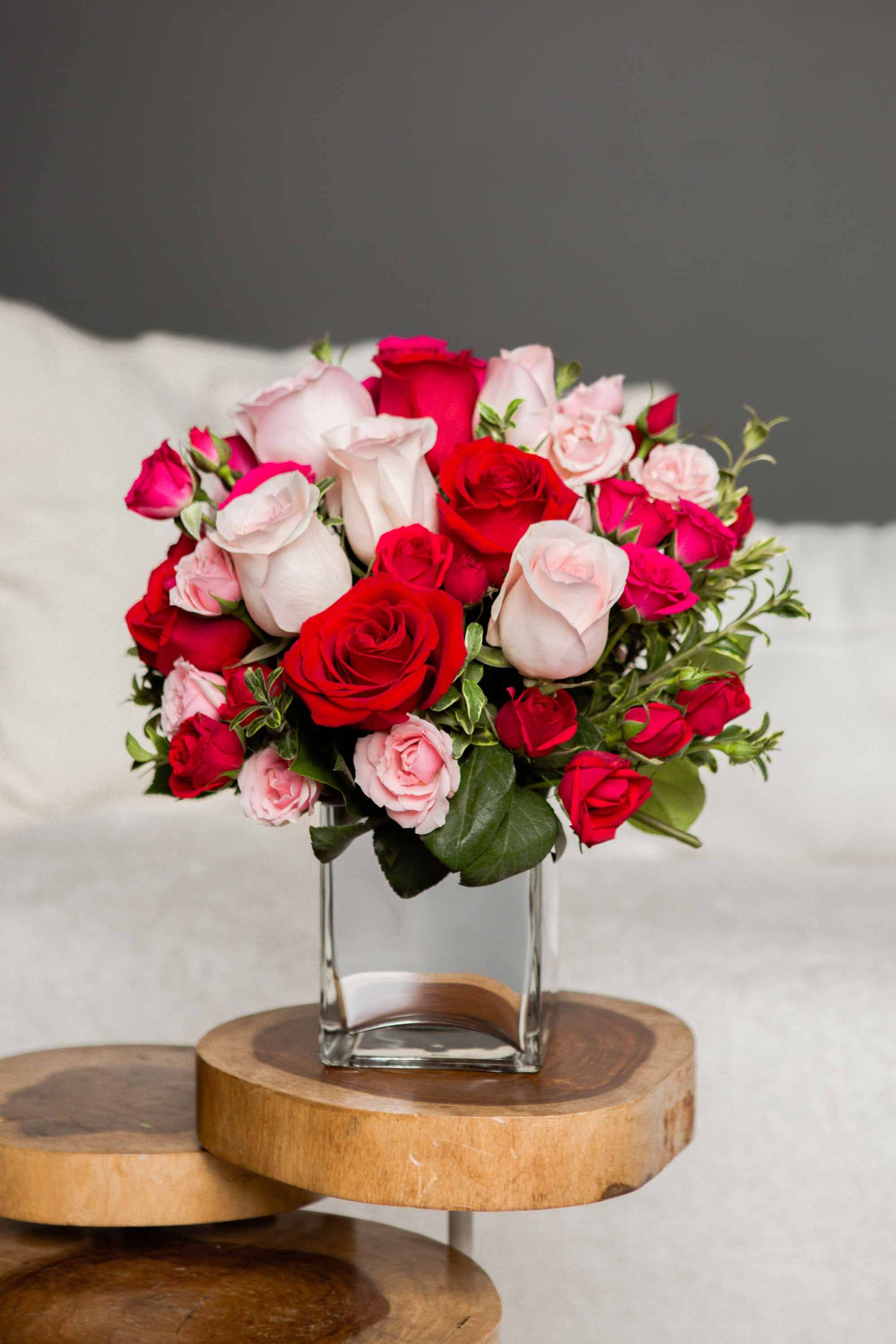 Telefloras Love Medley Bouquet With Red Roses Valentines Day