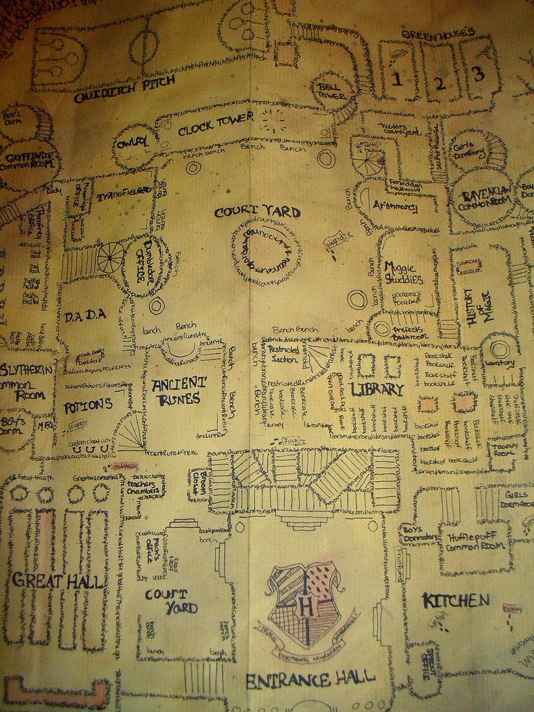 Marauders Map By Samanthafay1987 On Deviantart Harry Potter Marauders Map Marauders Map Harry Potter Planner