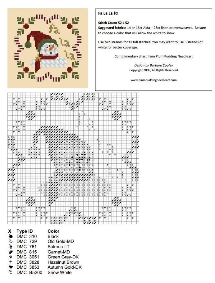 "Préférence Fa La La"" - Plum Pudding Needleart grille gratuite | Needlework  MP73"