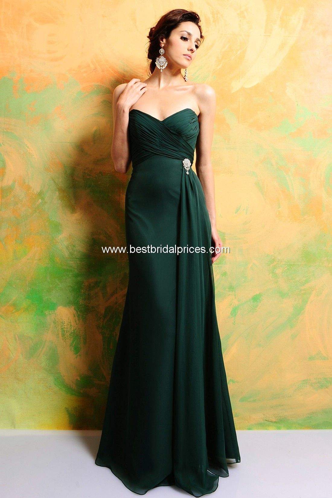 Green Bridesmaid Eden Dresses Style 7324