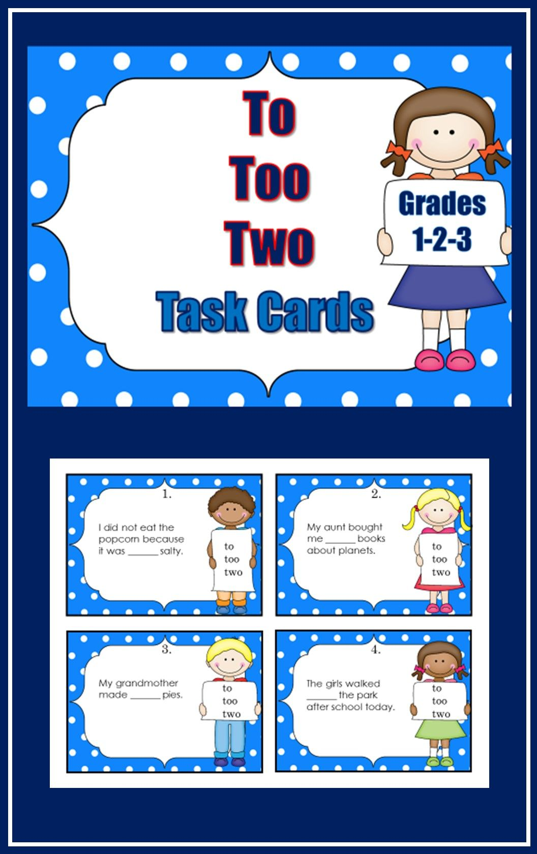 Homophones To Too Two With Images