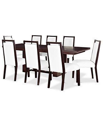 Belaire Dining Room Furniture 9 Piece Set Dining Table And 8