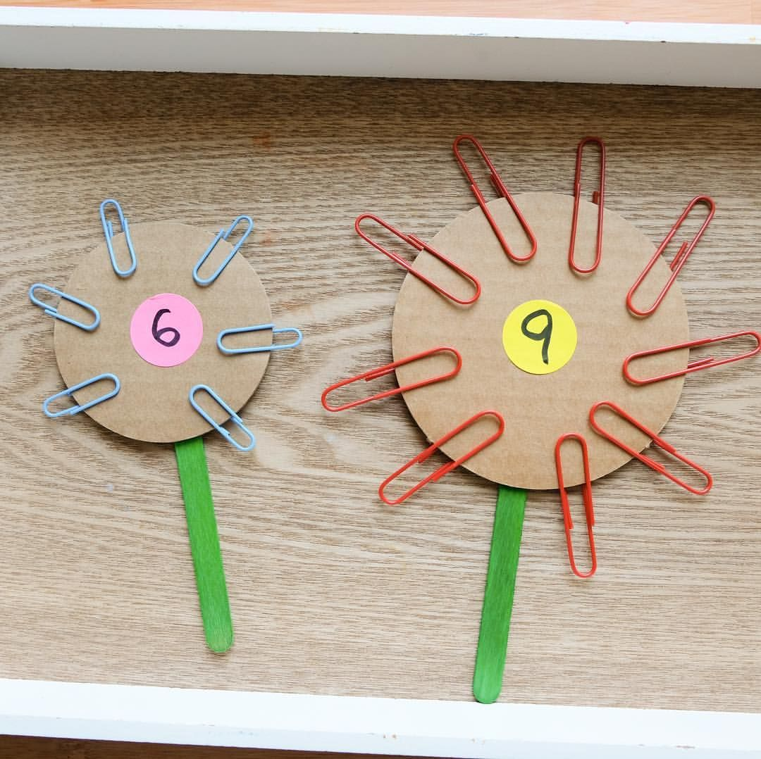 Paper Clip Counting Flowers I Always Love To Create