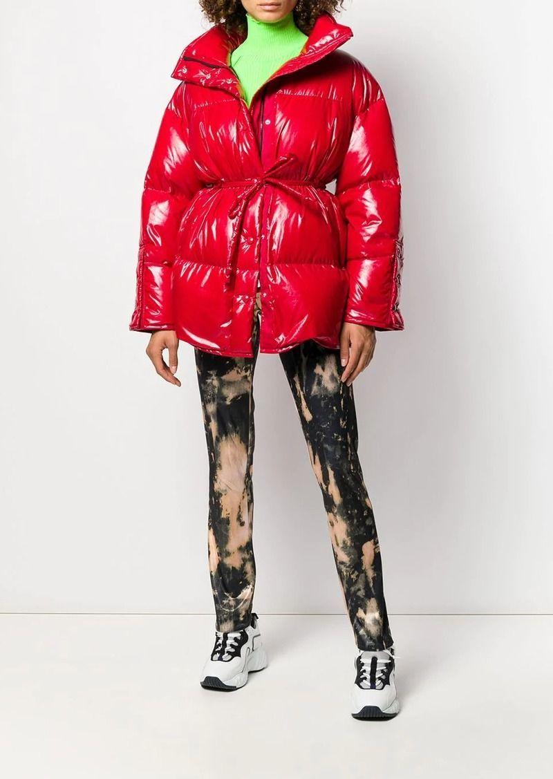 Acne Studios Tie Waist Puffer Jacket Outerwear Puffer Jackets Fitted Biker Jacket Outerwear Jackets