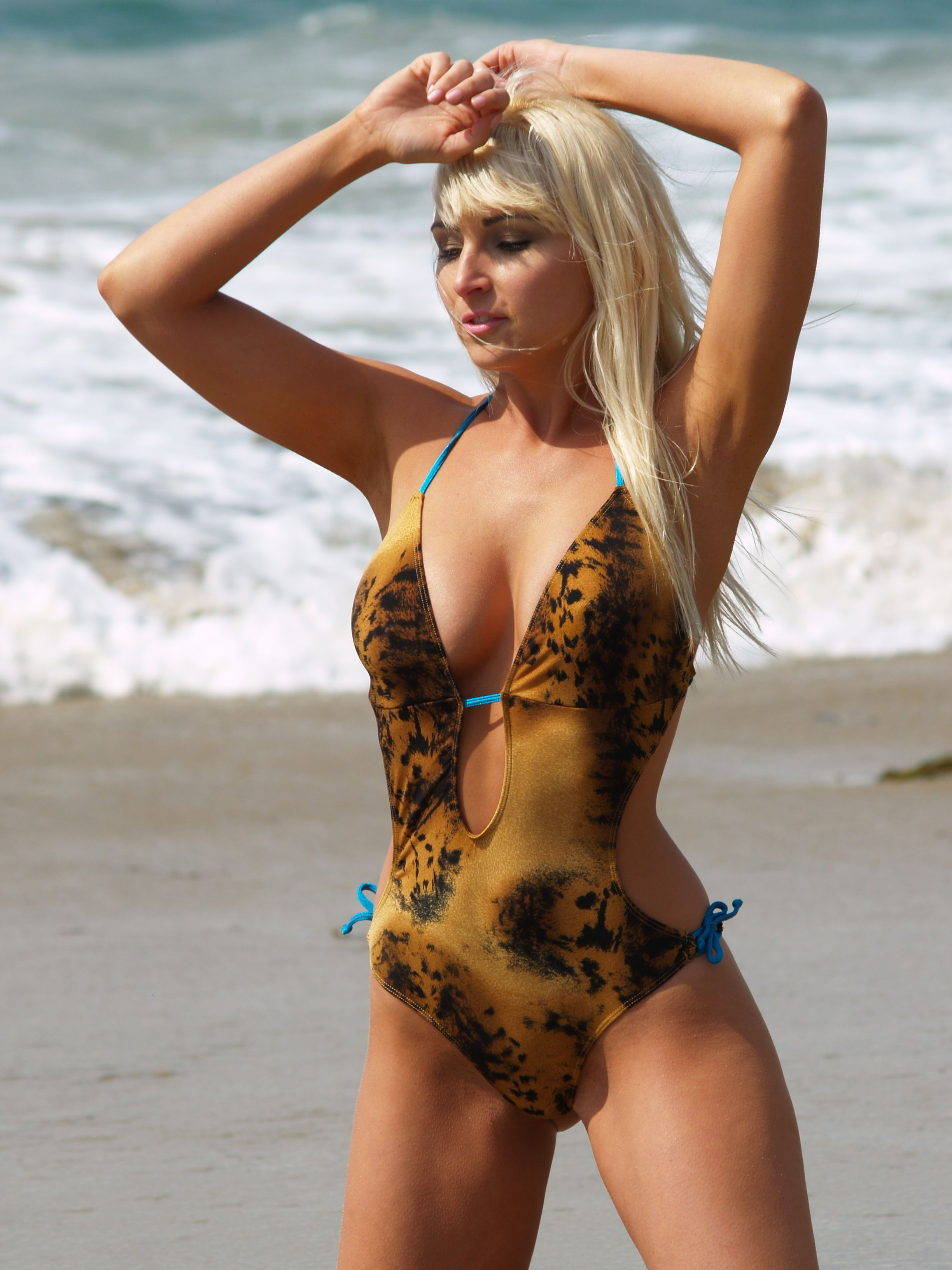 07281833326 The Hipster Cat one piece swimsuit by Brigitewear available with thong or  Rio bottom. #