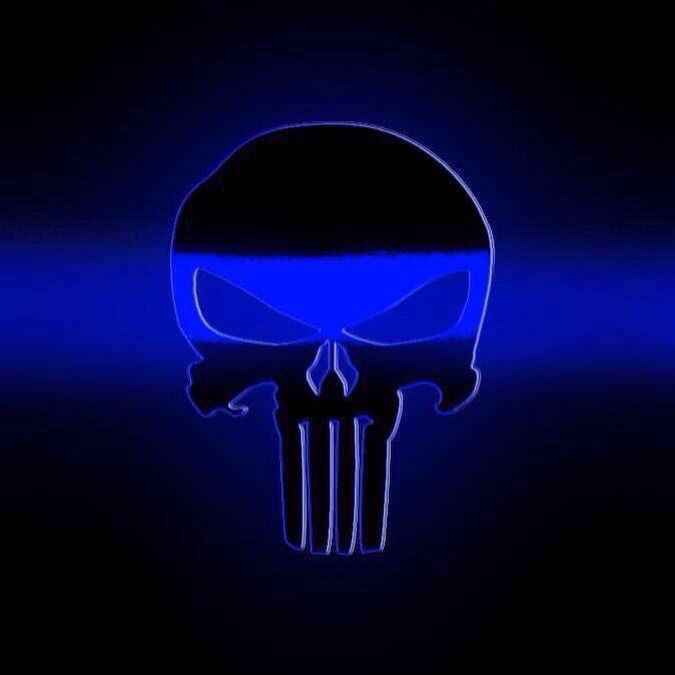 Blue Line Wallpaper: Thin Blue Line Punisher