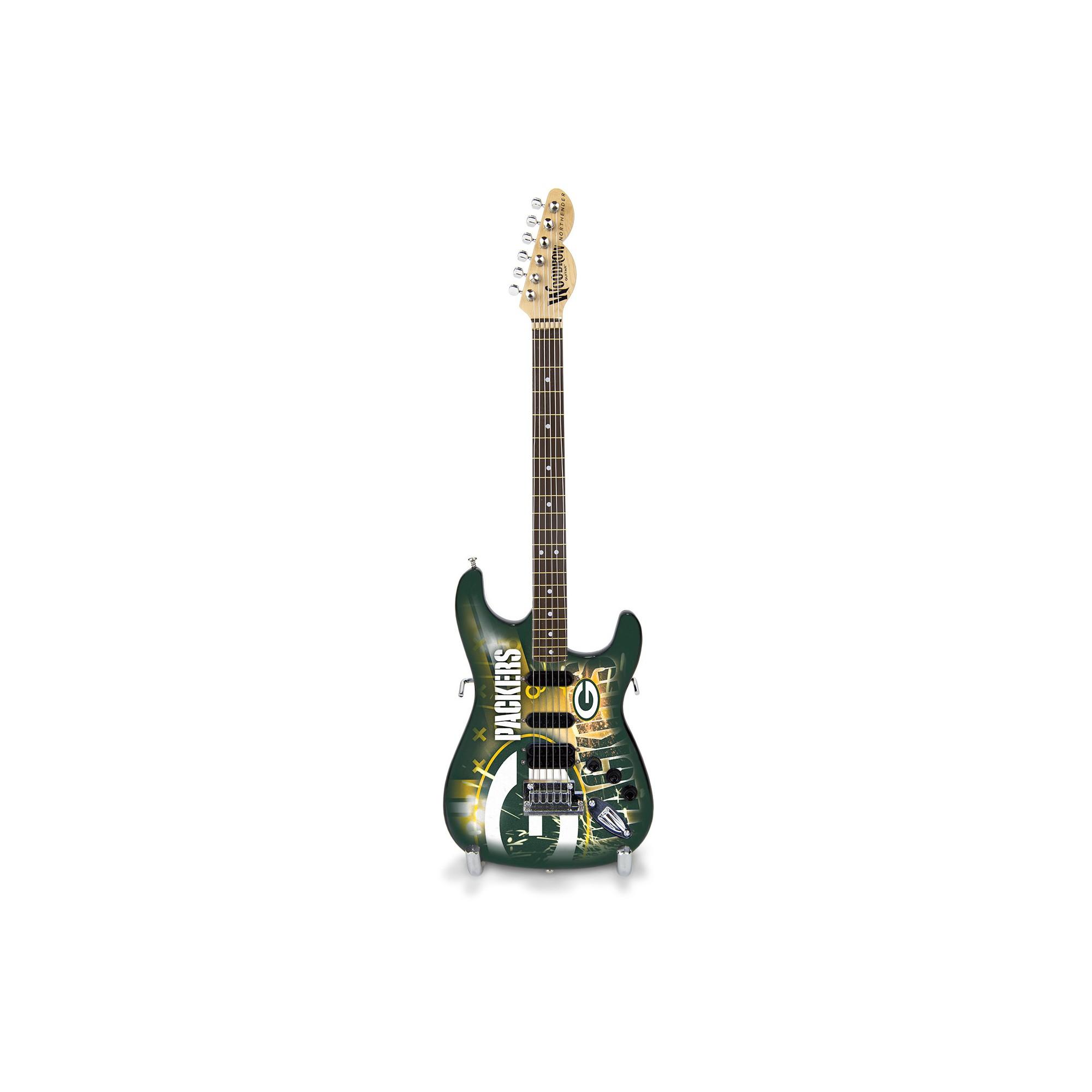 Sports Vault Mini Guitar Green Bay Packers