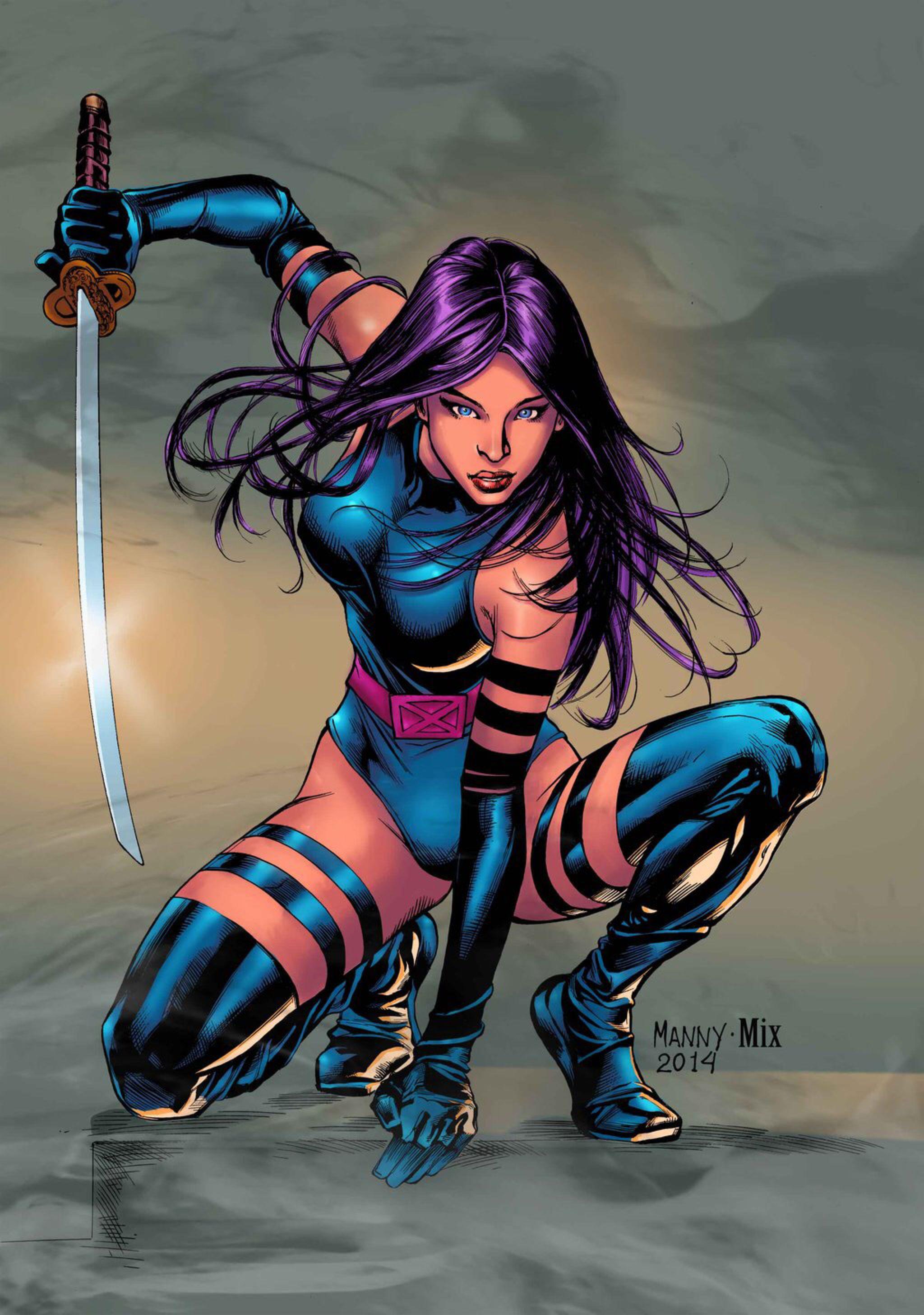 PSYLOCKE by MixGray on @DeviantArt | Badass Comic Chicks ... Marvel Now Psylocke