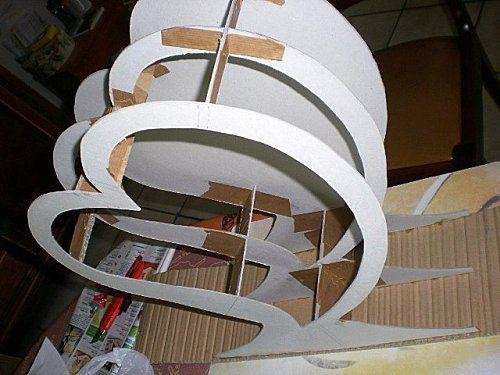 montage de l 39 urne en carton r alis e par vivi26 partir du tuto et patron gratuit de l. Black Bedroom Furniture Sets. Home Design Ideas