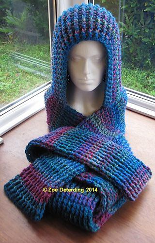 This Pattern Creates A Very Chunky Ribbed Scoodie Yarn Hook Size