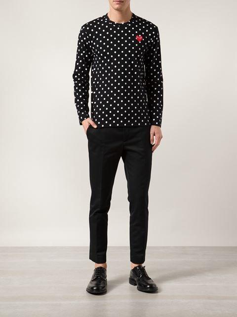 7c3eac232 Comme Des Garçons Play Polka Dot Print T-shirt