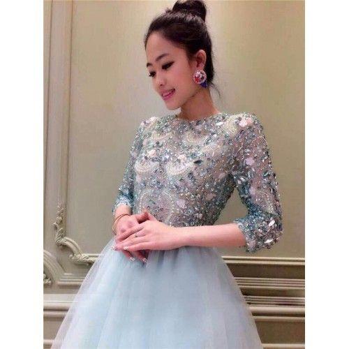 Beading Lace Short Prom dress