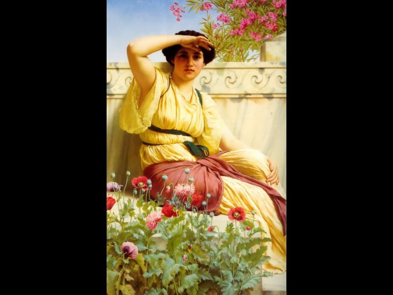 Charming moment - A Tryst by John William Godward, 1912.