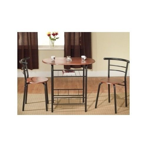 Bistro Table And Chairs Small Pub Kitchen Set Apartment Breakfast Dining Dinette
