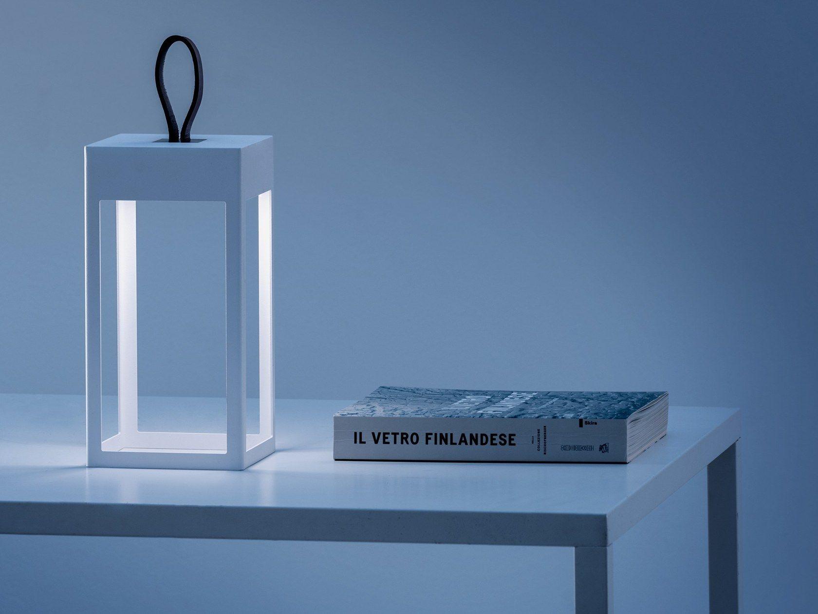 Lampada da tavolo a led in alluminio pressofuso a batteria