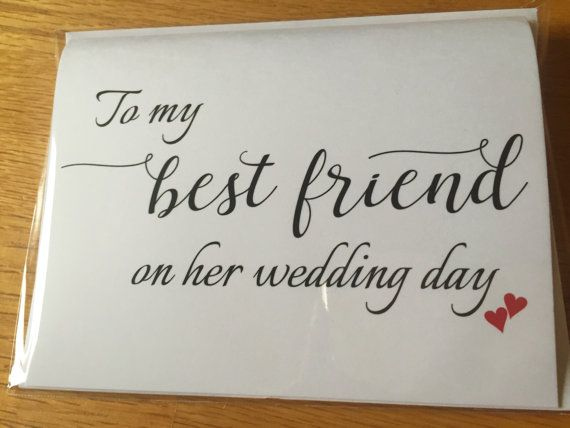 To my Best Friend on her Wedding Day Card,Wedding Day Printed Card, A2 Wedding Day Card(WDC-F32)