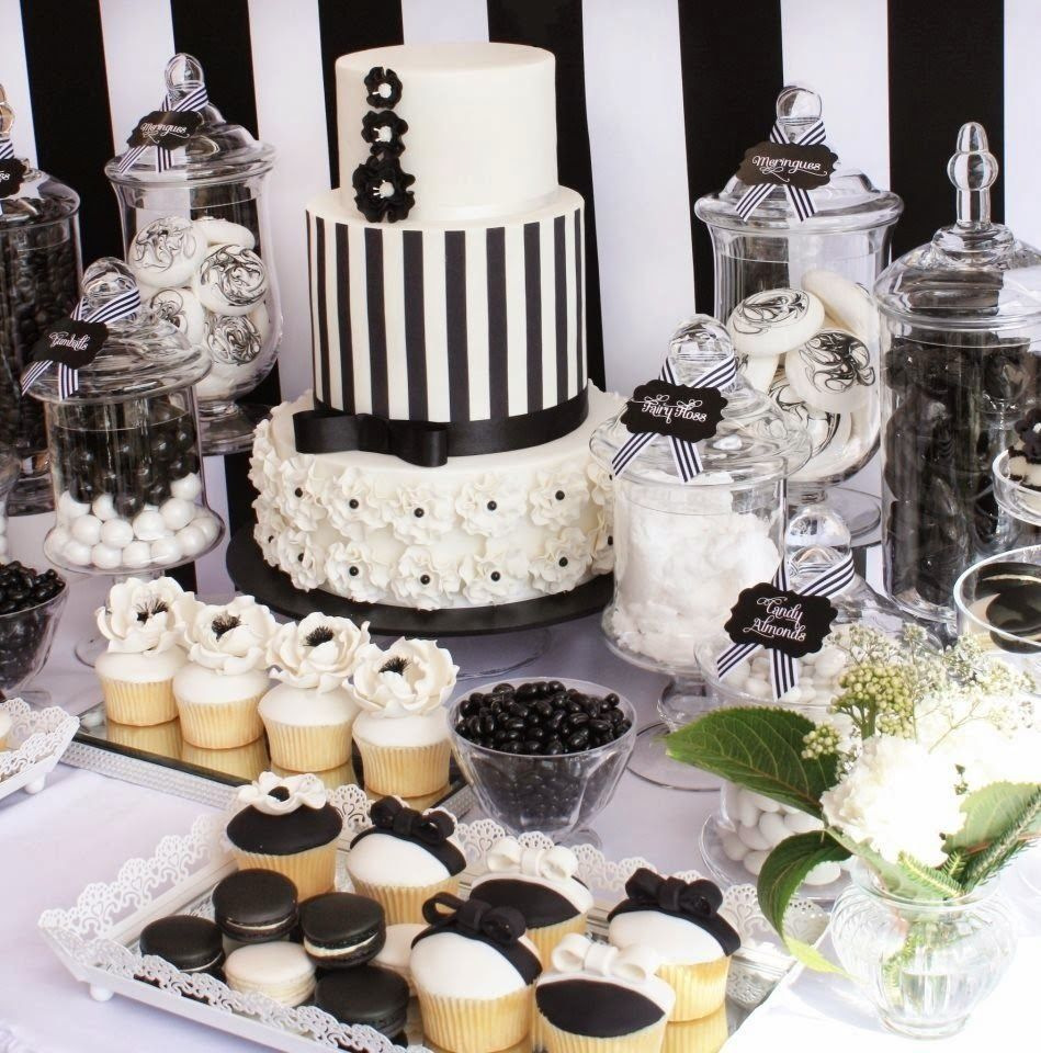 10 Attractive Black And White Party Food Ideas White Dessert