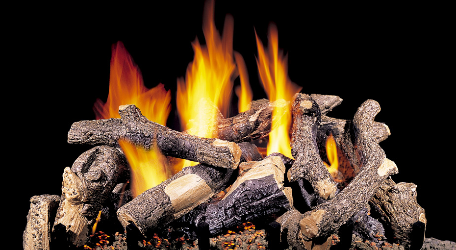 Cjs Hearth And Home Charred Oak Stack Vented Gas Log Set