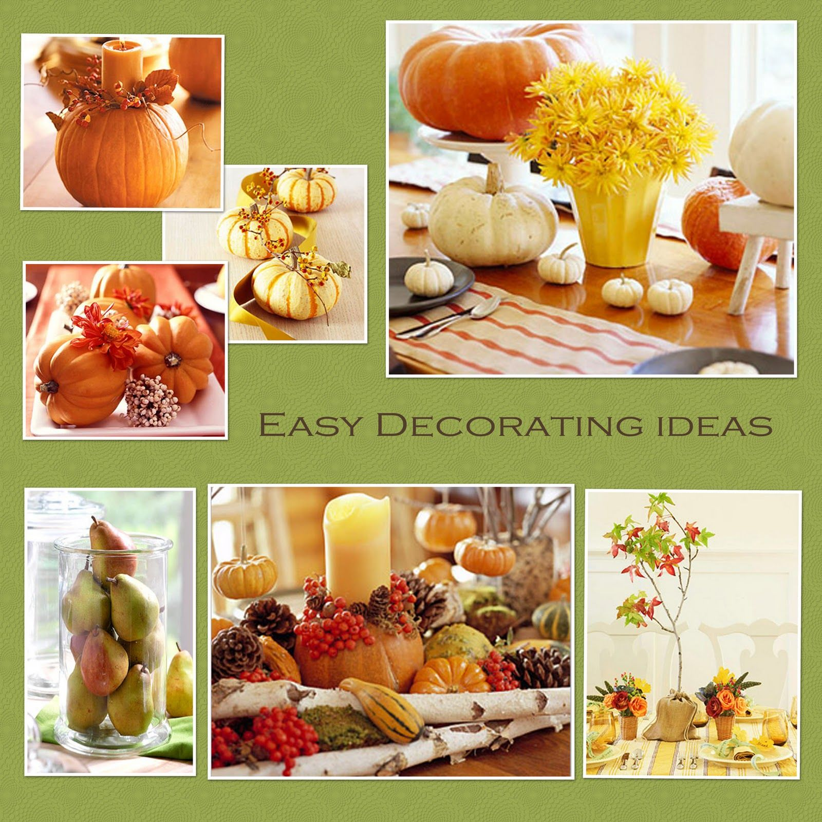 Decoration ideas for thanksgiving party - Decoration Ideas  sc 1 st  Pinterest & Decoration ideas for thanksgiving party - Decoration Ideas | Harvest ...