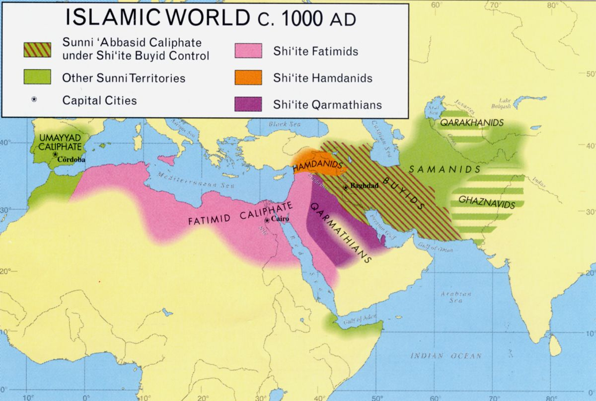 islamic world ca 1000AD | Historical Maps | Pinterest | Islamic