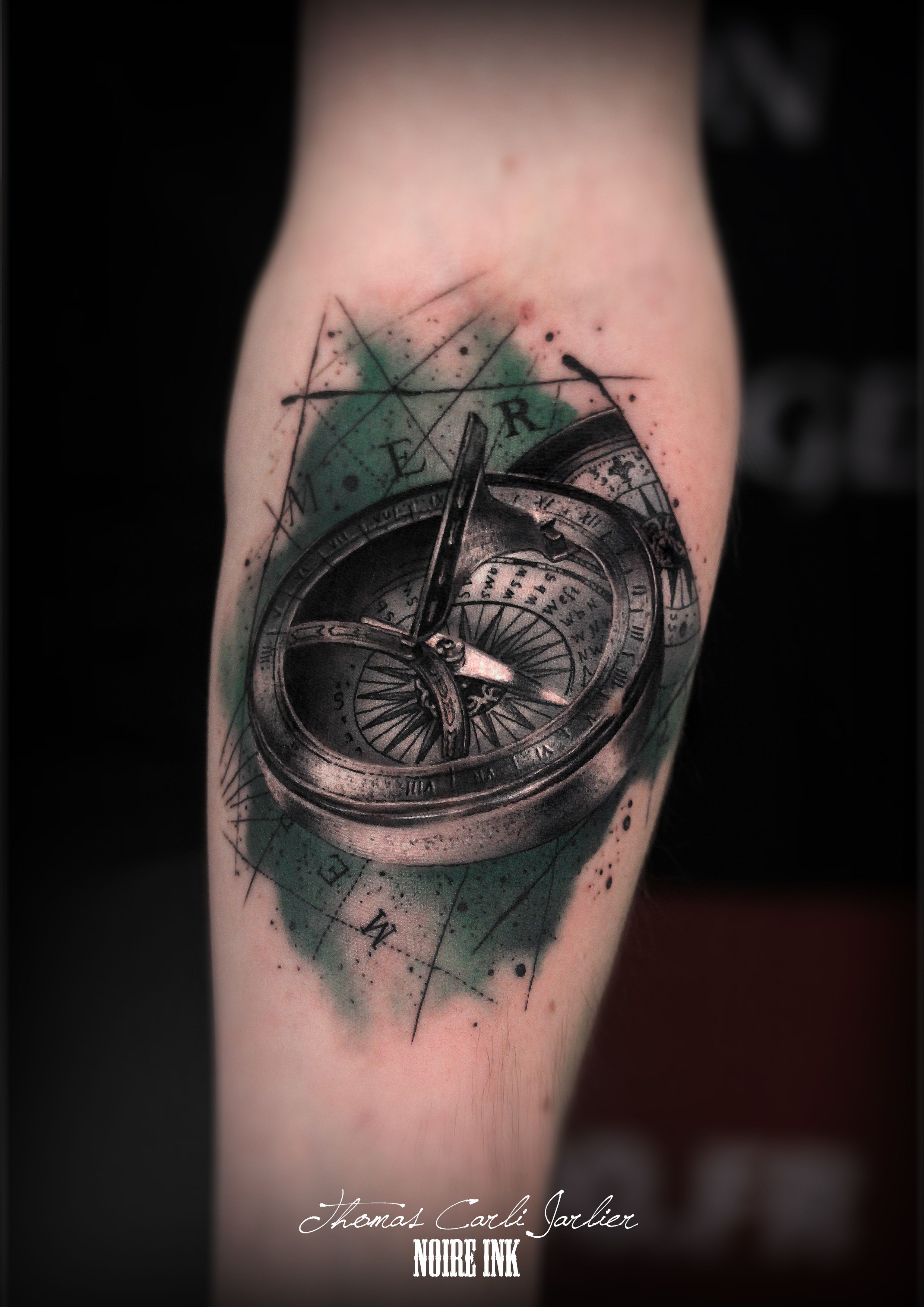 By Thomas Carli Jarlier At Noire Ink Tattoo Tatouages Cartes
