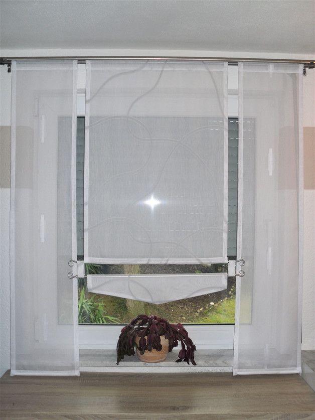 mit stangendurchzug ca 4 0 cm nach wunsch auch mit gardinenband klettband oder schlaufen. Black Bedroom Furniture Sets. Home Design Ideas