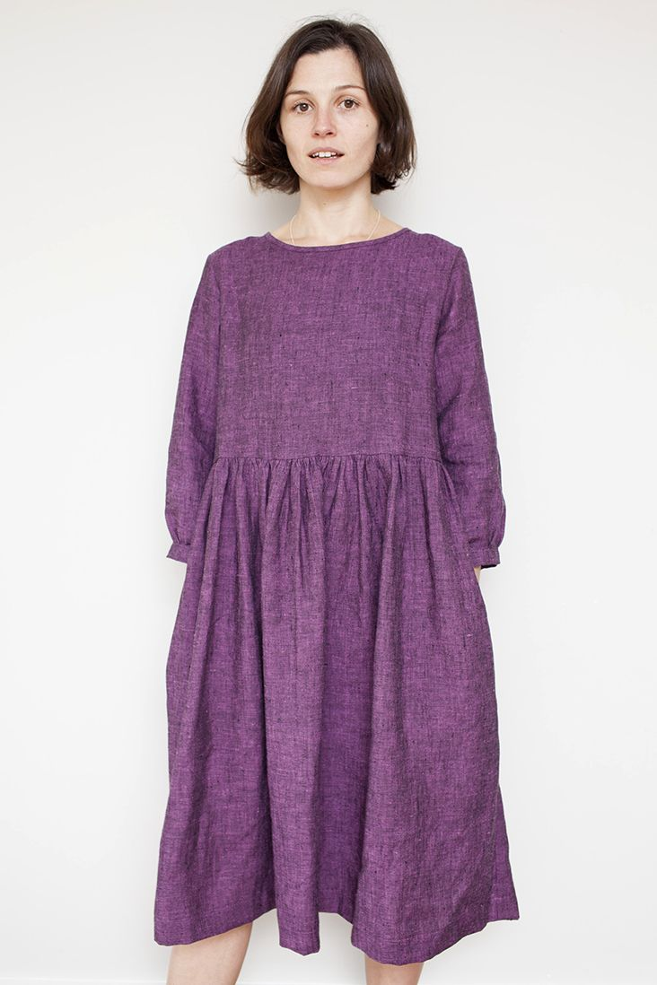 Linen Gathered Tie Back Dress Tutorial | sewing | Pinterest | Dress ...