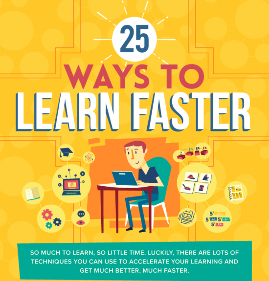 25 Ways to Learn Faster Infographic