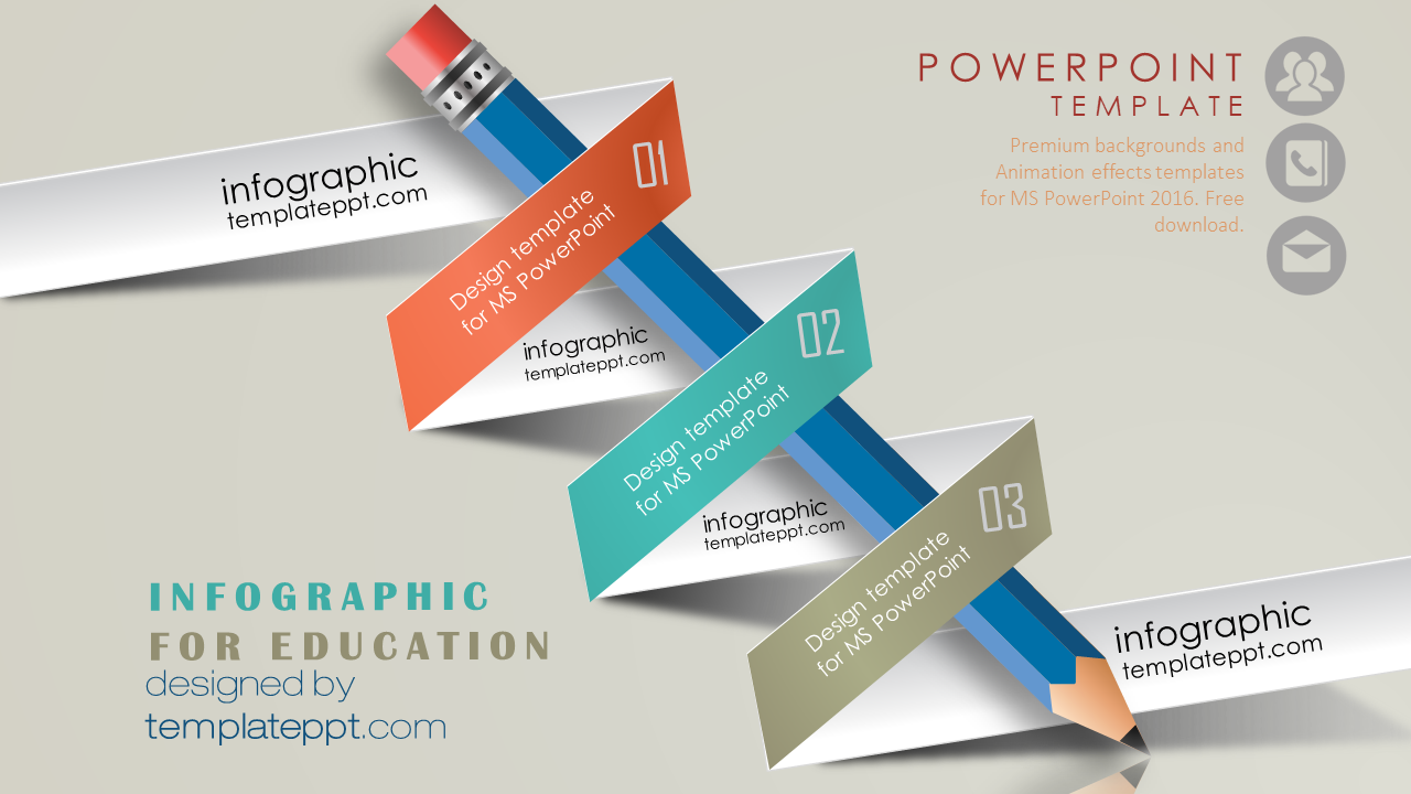 Infographic Slide Powerpoint For Education School Powerpoint