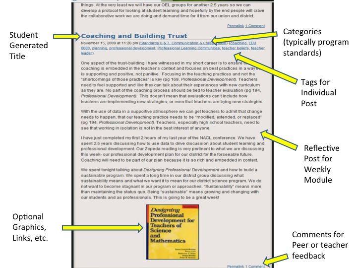 Bportfolio Example   Assessment    Reflective Practice