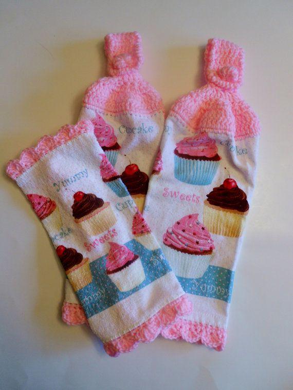 Cupcake Kitchen Decor Hanging Towels Pot | cakes | Pinterest ...
