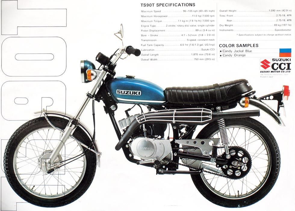 1971 Suzuki Ts90t Honcho Suzuki Cafe Racer Vintage Motorcycle Posters Suzuki Ts125