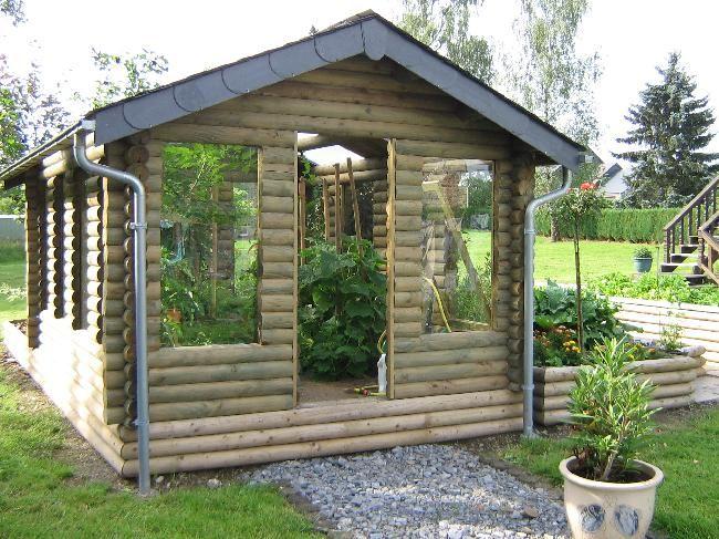 Chalets, abris de jardin, abris bois, garages,... en rondins usinés ...