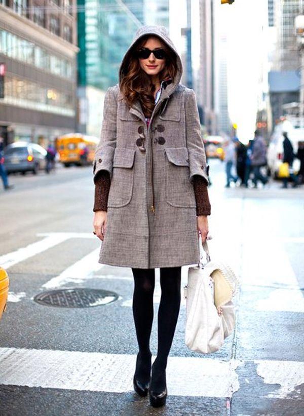Hooded Wool Duffle Coat I2lwPS