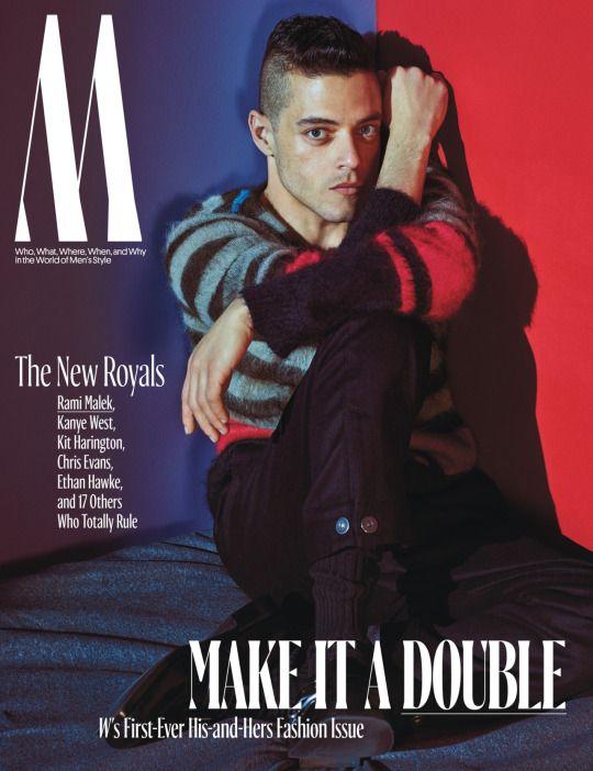Rami Malek,for W magazine October 2016 issue by Mario Sorrenti