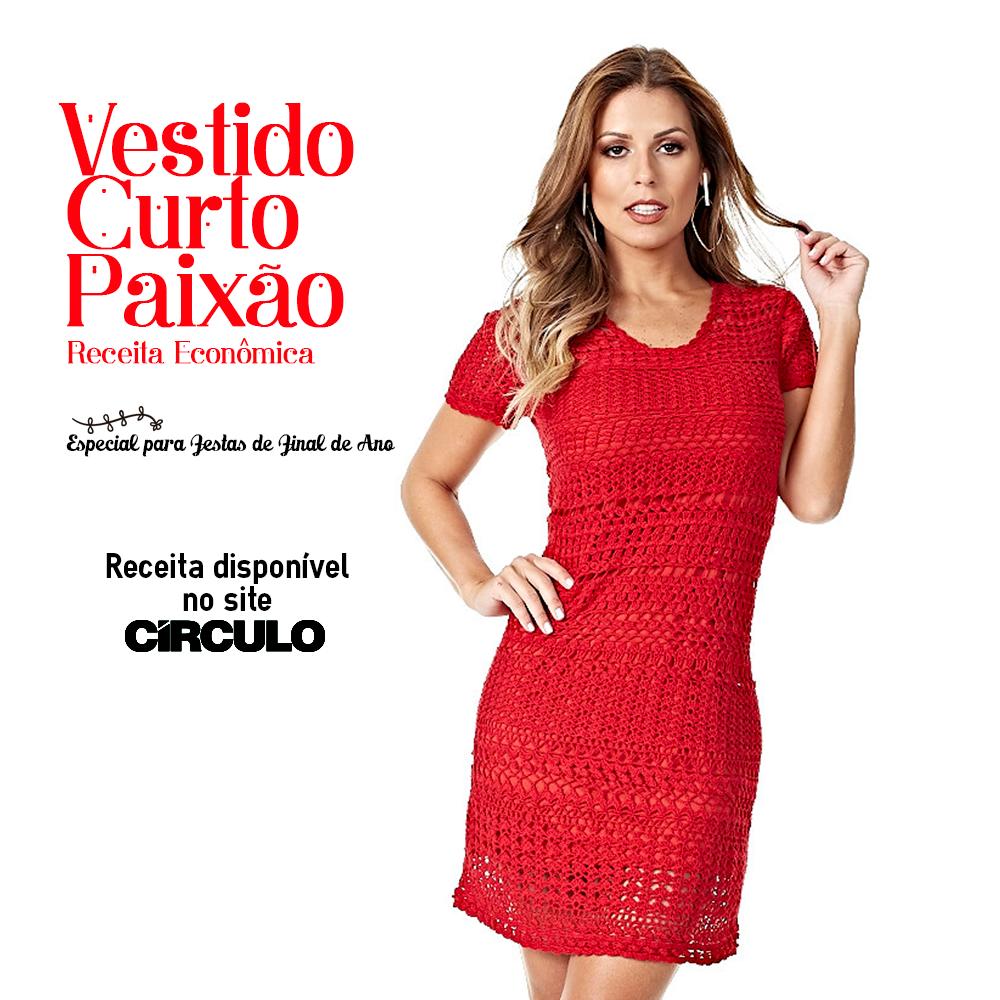 Básico e elegante, o Vestido Paixão é garantia de sucesso. Confira a receita completa clicando na imagem.