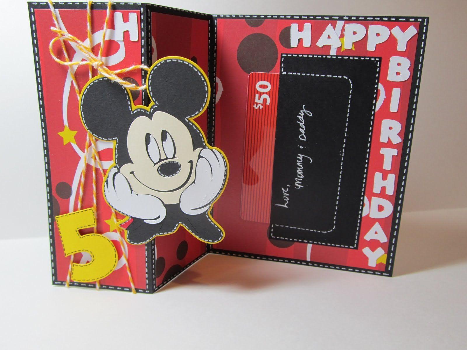 Mickey Card Disney Birthday
