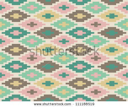 Seamless Ikat Pattern #1 Stock Vector Illustratie: 111188519 : Shutterstock